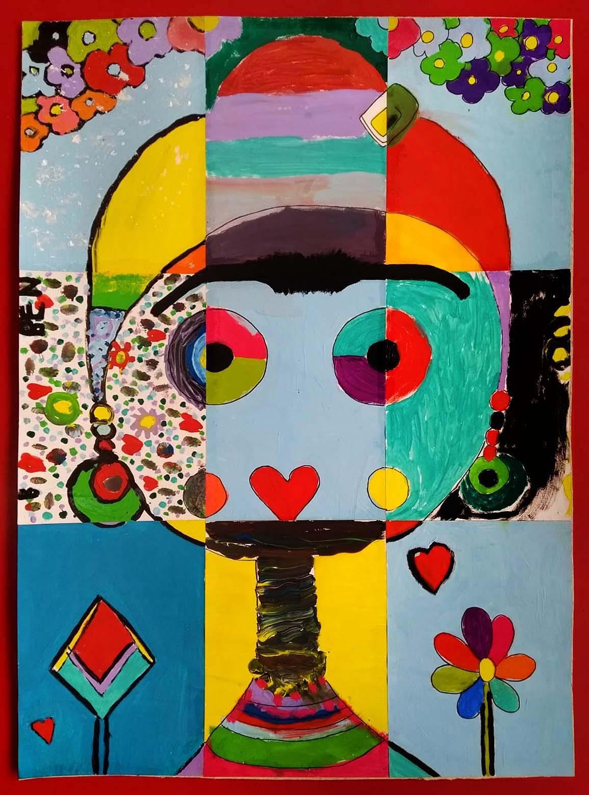 arte na escola frida kahlo